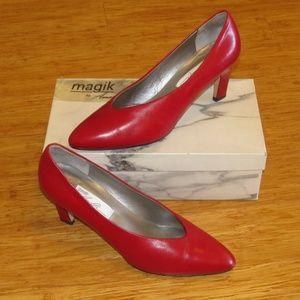 Red Amalfi High-heeled Dress Shoes